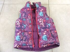 Fat face girls reversible gilet body warmer size 6-7