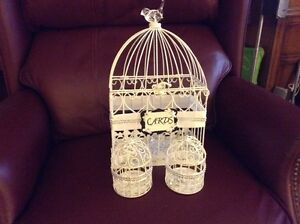 Birdcage for gift cards with two smaller accent birdcages