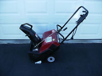 "20"" dynamark electric snow blower."
