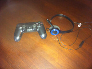 Ps4 controller and head set