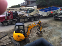 MINI TRACK HOE FOR HIRE AT WB CONTRACTING! CALL US TODAY!