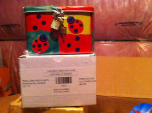 Ladybug bank box with lock, brand new