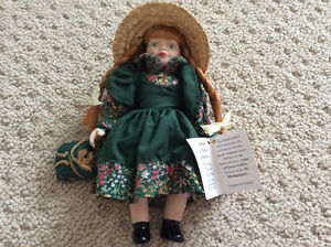 "Anne of Green Gables porcelain doll 9"" - mint brand new"