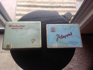 REDUCED-2 Vintage Cigarette Tin Cases -  PLayer's & Winchester