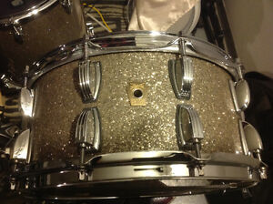 Ludwig legacy snare 14x6.5 pewter glass glitter