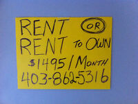 Rent or Rent To Own