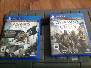 Assins Creed Black Flag and Assins Creed Unity
