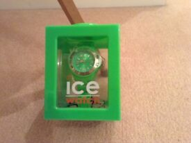 GENUINE BRAND NEW GREEN ICE WATCH WITH BOX AND PAPERS