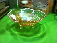 Three footed lustre candy bowl