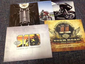 HARLEY DAVIDSON SALES BROCHURES. CATALOGS. POSTERS MAGS ETC.