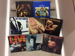 Assorted vinyl records for sale