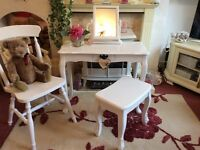 Console table chair and mirror