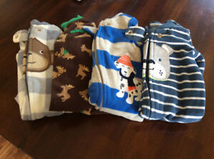 Newborn boys fleece sleepers