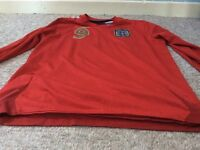 2 England Kits! Red Kit size Large boys. Turquoise Kit Size Medium Boys