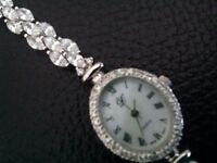 QVC Dimonique sterling silver watch