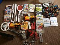 Huge Nintendo Wii bundle, controllers, nerf, sky landers, mario Etc.