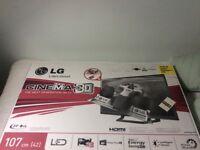 "LG 42"" CINEMA 3D TV"