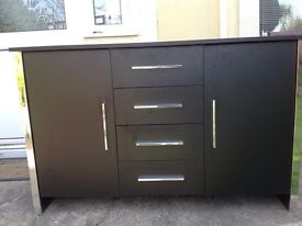 Black and chrome sideboard