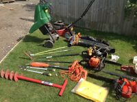 Selection of gardening tools