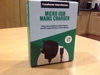 Micro USB mains charger