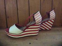 Ladies Stripey Heels