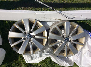 Used 16 in. alloy rims off 2013 VW Golf