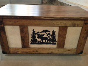 Rustic country style coffee table chest or blanket box NEW