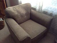 Next light brown / grey armchair large