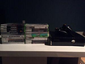Xbox 360 slim 250 GB + accessoires et jeux