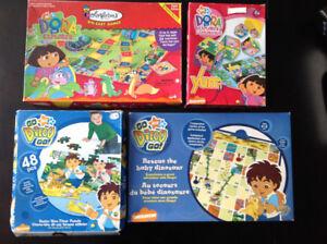 4 Jeux de Sociétés Dora l'exploratrice / Go Diego go!