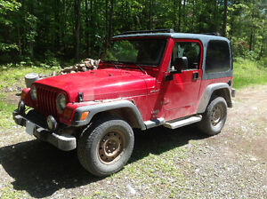 2004 Jeep TJ Sport, selling AS IS, Driving, still running well