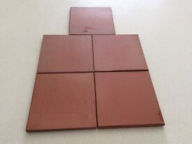 "Red quarry tiles x 93, 6"" x 6"""
