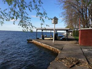 Bord de l'eau à vendre lac st-francois