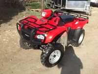 2012 HONDA FOREMAN 500 4X4 ONLY 650KMS!!!!!!!!!!!!!!!!!!!!!!!!!!