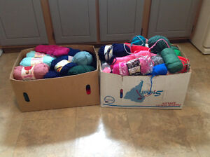Knitting Wool for Hand Made Clothes Large Lot Of 80+ 2 Boxes $80 Kitchener / Waterloo Kitchener Area image 1