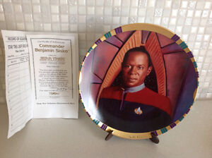 STAR TREK DS9 Commander Benjamin Sisko Collector Plate