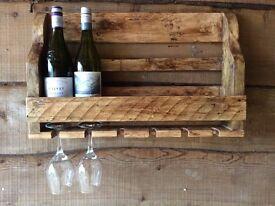 Shabby chic wine rack.