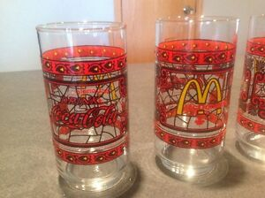 Free set McDonalds/Coca Cola Promo Stained Glasses Canadian