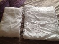Toddler bed duvet and pillow.