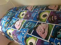 Disney monsters uni brand new single duvet cover set
