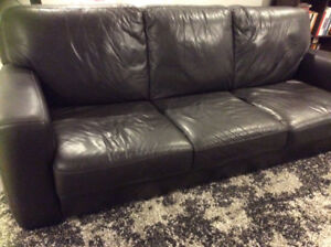 Leather couch and chair in perfect condition
