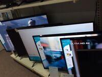 VARIOUS SIZES OF HISENSE SMART TVS