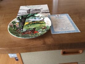 WEDGWOOD 'MEADOWS AND WHEATFIELDS' PLATE, LIMITED EDITION