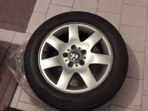 "4 x 16"" BMW OEM  wheels and summer tires"