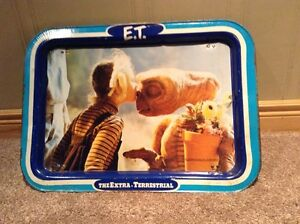 Vintage (1982) E.T. the Extra-Terrestrial metal dinner tray Kitchener / Waterloo Kitchener Area image 1