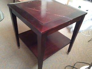 Side table, cabinet, old chairs