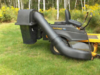 Grass/leaf collection system for CubCadet ride on mower