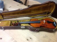 Von dolling violin and Edwin August Prager bow