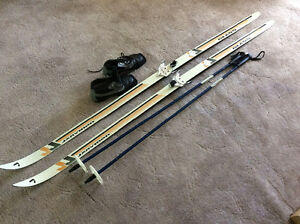 Cross Country Skis, poles and boots