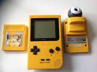 Yellow Nintendo GameBoy Pocket Console Bundle